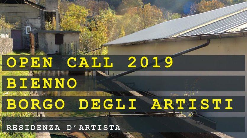 OPEN CALL 2019 BIENNO BORGO DEGLI ARTISTI