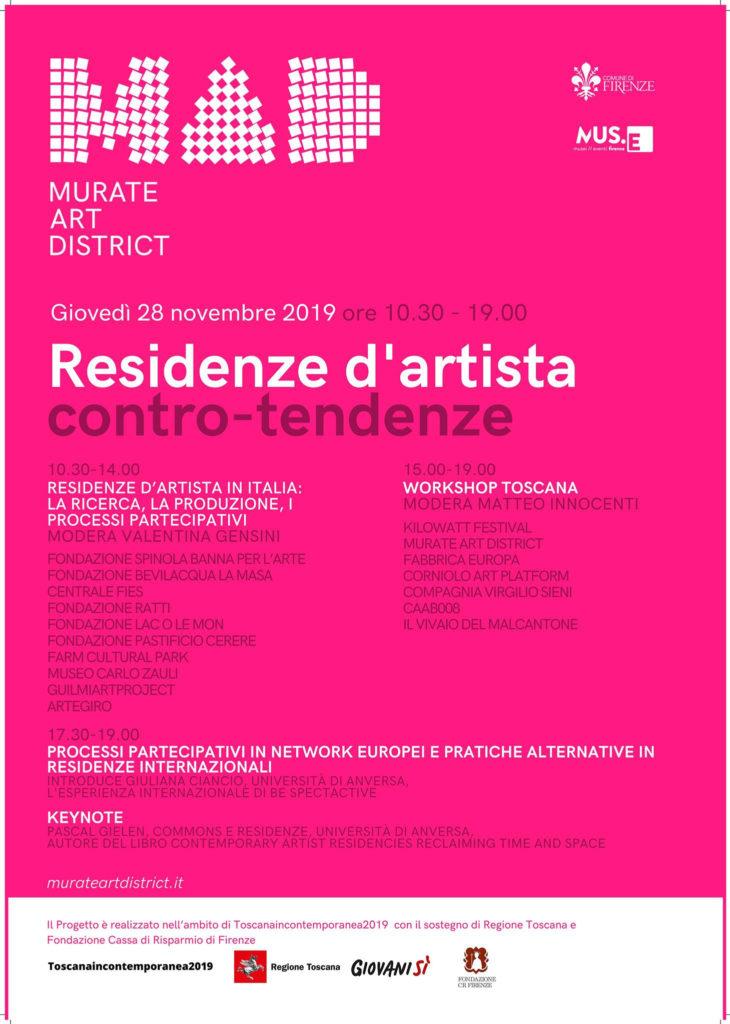 residenze d'artista contro tendenza